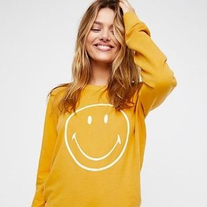 Free People | Sunshine Smiley Pullover